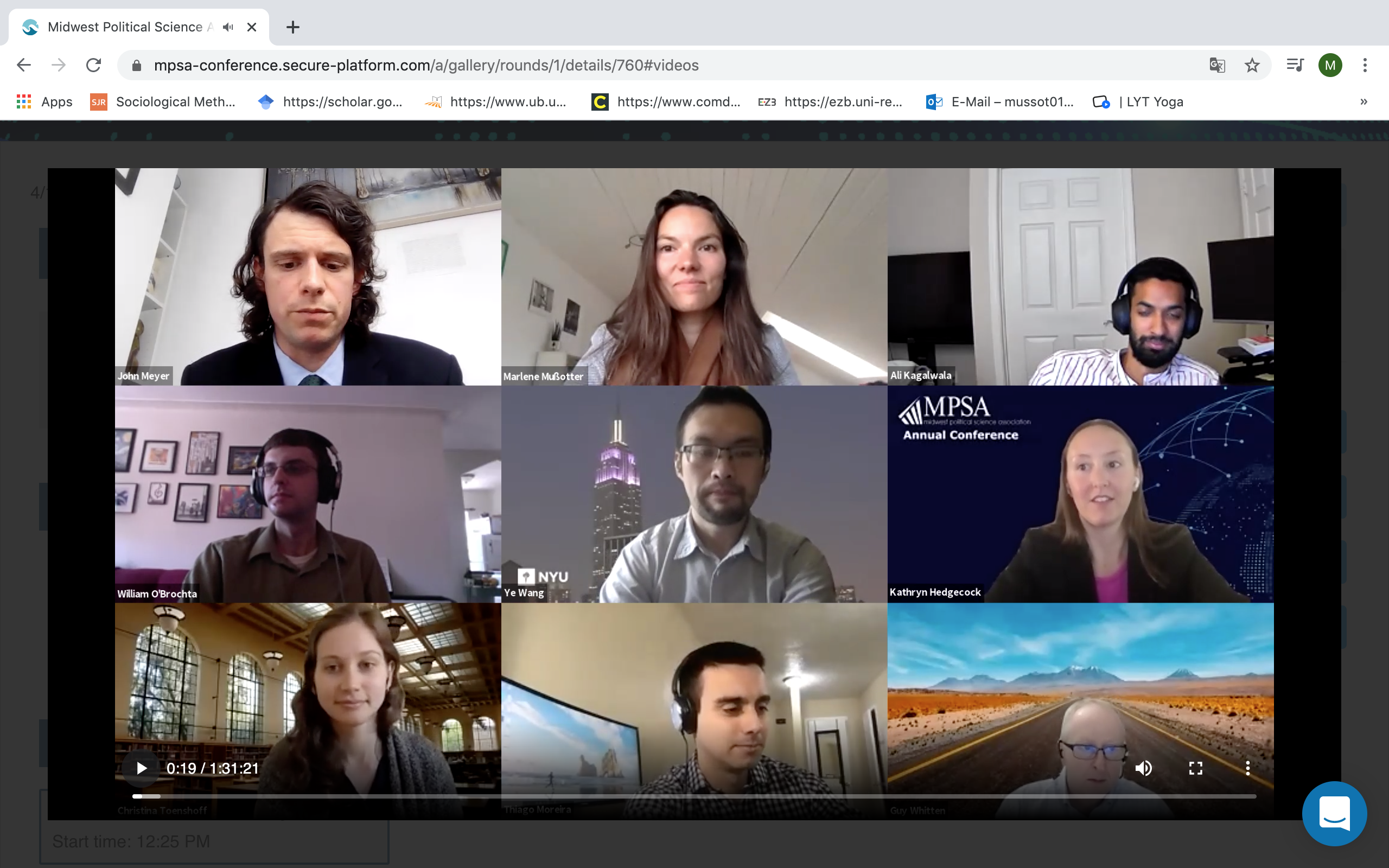 Online Meeting der Midwest Political Science Association